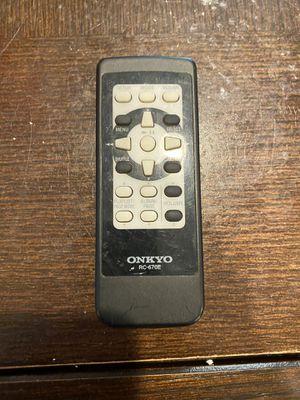 Onkyo RC-670E remote control for Sale in Azusa, CA