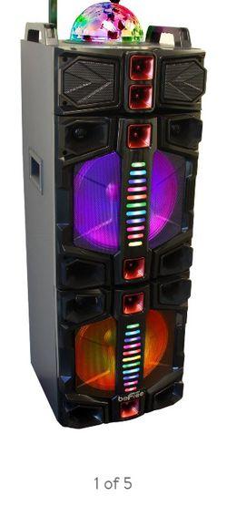 Bosinas Be Free Radio USB Y Bluetooth Nuebas Grande Dos 12 Pulgadas Con Luces Microfono Inalambrico I Control for Sale in Compton,  CA