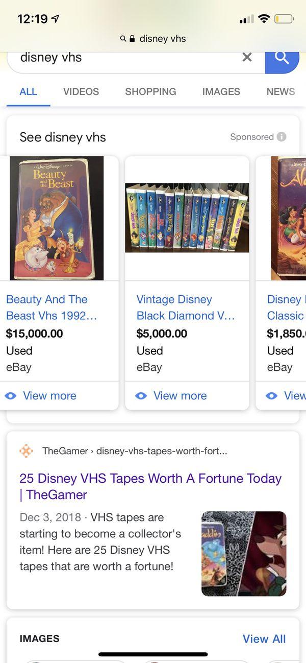 Classic Disney vhs