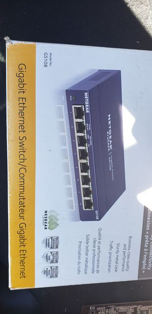 Netgear pro safe 8 port + Cisco linksys router 4port for Sale in Ypsilanti, MI