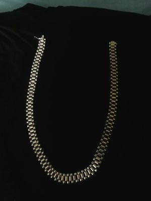 Rolex link silver chain for Sale in Lutz, FL