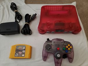 Watermelon Nintendo 64 with game and controller for Sale in Elyria, OH