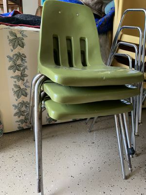 3 green chairs $20 for Sale in Charlotte, NC