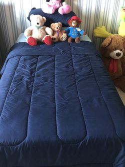 Twin Bed With Box Spring $ Metal Bed Frame for Sale in Rosenberg,  TX