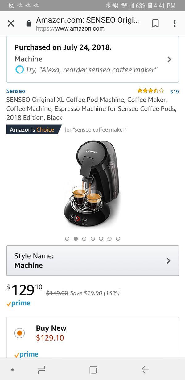 Senseo XL coffee maker, like new!