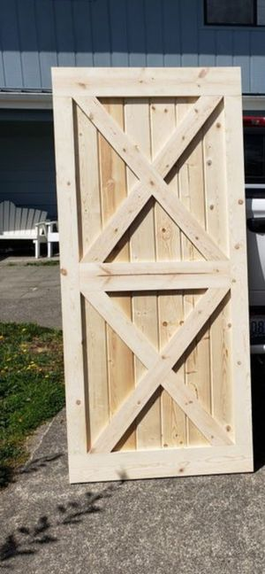 Pine Barn Door with X's for Sale in Puyallup, WA