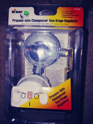 Propane 2 stage regulator Auto changeover for Sale in Glen Burnie, MD