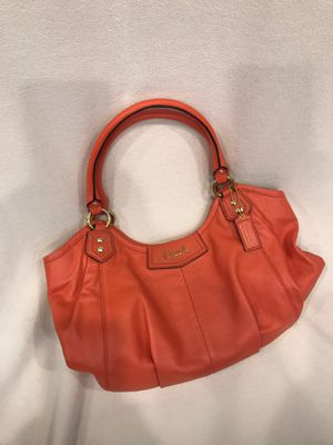 COACH Leather Tote Large Coral in color for Sale in Springfield, VA