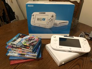 Nintendo Wii U Basic Set 8GB with games! for Sale in Phillips Ranch, CA