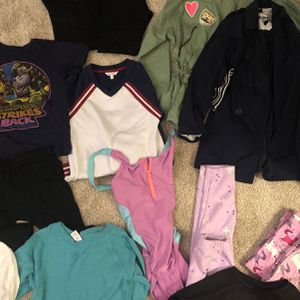 Lot Of Girls Clothes Size 6-8 With Gently Used Skechers Size 2 for Sale in Columbus, OH