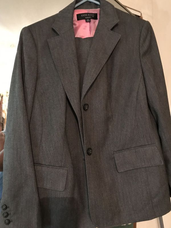 Ann Klein Dark Gray women's pantsuit