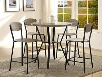 Blake Gray 5-Piece Round Counter Height Set for Sale in College Park,  MD