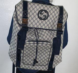 GUCCI Supreme Men's Travel Back Pack/Navy Blue for Sale in Phoenix, AZ