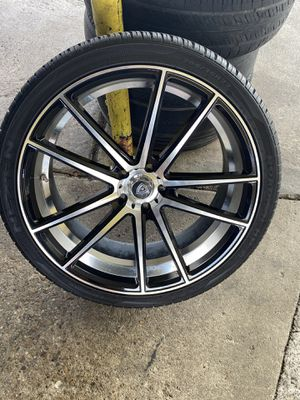 NEW 22inch Rims and Tires. Must go! for Sale in Dallas, TX