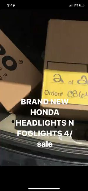 Honda headlights and foglights for Sale in Baltimore, MD