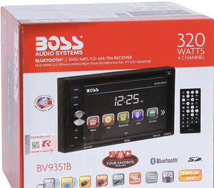 "Boss BV9351B Double DIN Bluetooth In-Dash DVD/CD/AM/FM/Digital Media Car Stereo Receiver w/ 6.2"" Touchscreen, 3.5mm & USB Auxiliary Inputs and Wirele for Sale in Hialeah, FL"