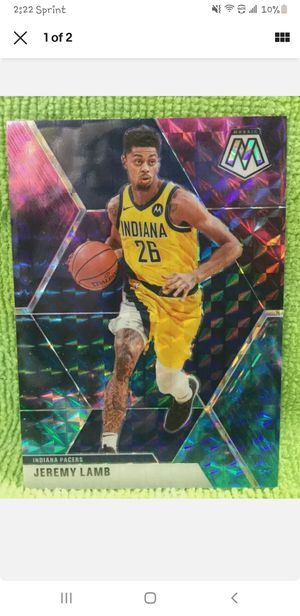 Jeremy lamb Indiana pacers 26 no. 175 panini mosaic prizm 1 of 1 nebula for Sale in Madera, CA