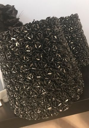 Two black rose lamp shades for Sale in Washington, DC