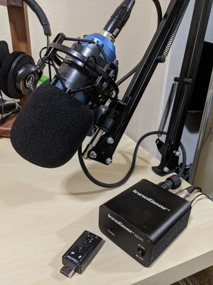 Microphone with Power Supply and Audio Card for Sale in San Diego, CA