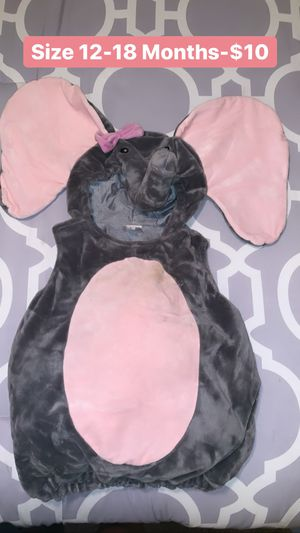 Toddler Elephant Costume Size 12-18 Months for Sale in Covina, CA