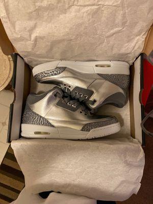 "DS Jordan retro 3 ""Chrome"" size 9.5y women's 11 for Sale in San Jose, CA"