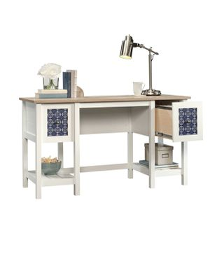 wooden two drawer WFH desk for Sale in Sacramento, CA