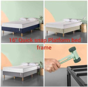 SALE!!! Brand new 16 inch tall quick snap platform bed frame queen size $85, king $90, full $75 for Sale in Columbus, OH