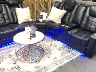 BRAND NEW POWER SECTIONAL SOFA LEATHER WITH USB PORT LED LIGHT 💡 WIRELESS CHARGE for Sale in Fort Worth,  TX