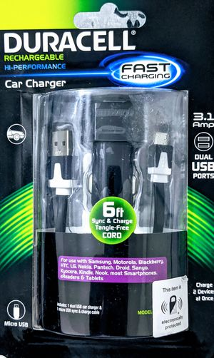 Duracell Rechargable car charger for Sale in Gilbert, AZ
