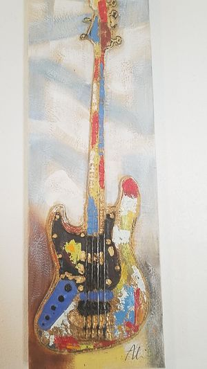 """Guitar Painting 12""""x 36"""" for Sale in St. Louis, MO"""