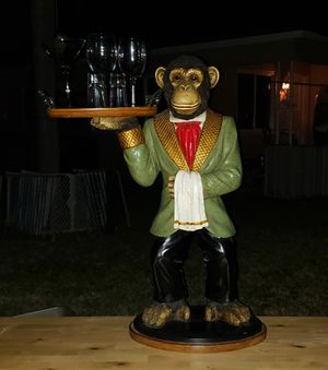 Monkey statue collectible approximately 2 feet tall for Sale in Hollywood, FL