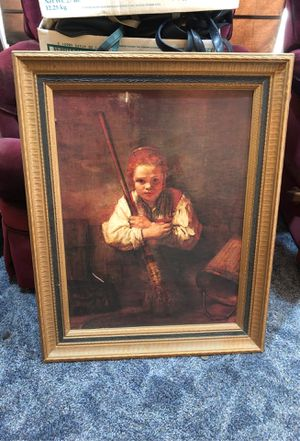 Girl With Broom Reproduction for Sale in Spokane, WA