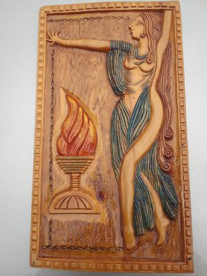 LOCAL DC artist wood Goddess carving wall art for Sale in Washington, DC
