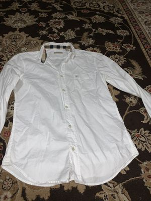 Burberry button up shirt for Sale in Menifee, CA