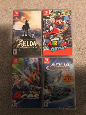 4 Nintendo switch games for Sale in Marysville, WA