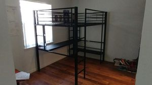 Loft Bed with attached Desk from Furniture Row for Sale in Janesville, WI
