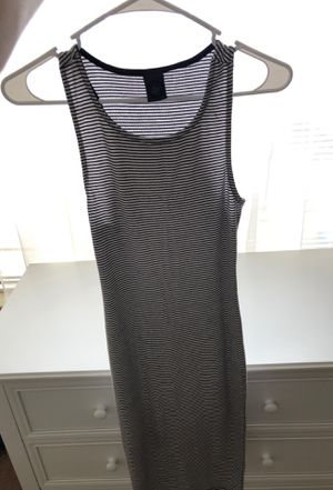 Striped white and black dress size S for Sale in Vallejo, CA