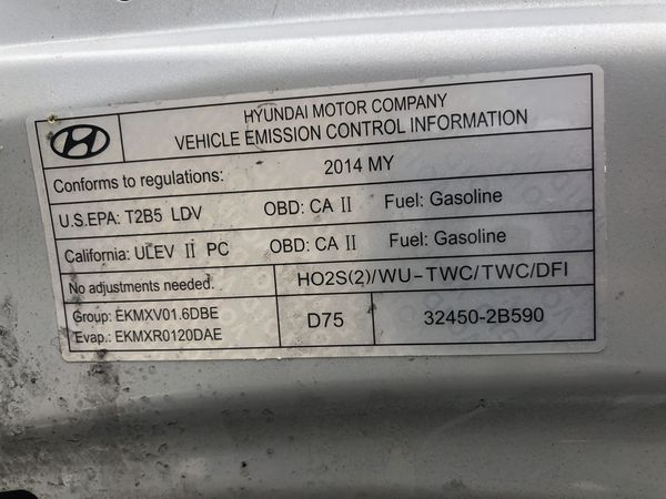 Hyundai Accent GLS 2014 Selling Parts Only