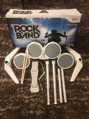 Rock Band Drum Set w/Game AND Nintendo Wii for Sale in Woodbridge, VA