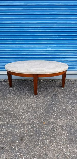 """Oval marble top coffee table. Measures approx: 48"""" long x 28"""" wide x 18.5"""" tall. for Sale in Phoenix, AZ"""