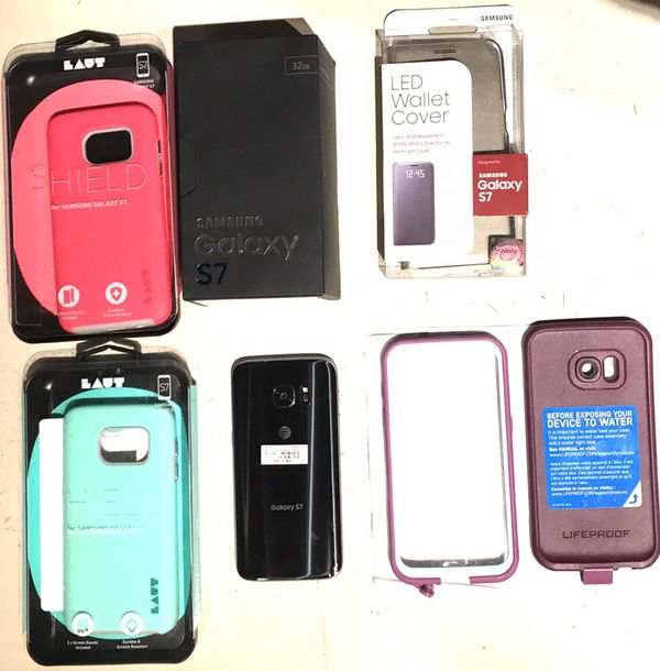 Samsung Galaxy S7 phone with cases