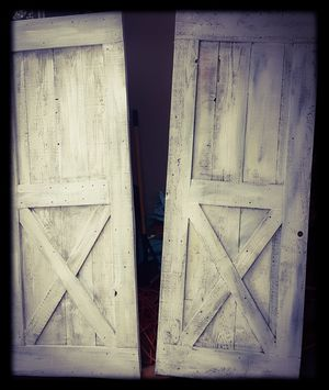Rustic white washed sliding doors for Sale in Medical Lake, WA