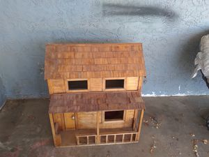 Hand made log house doll house for Sale in Goodyear, AZ
