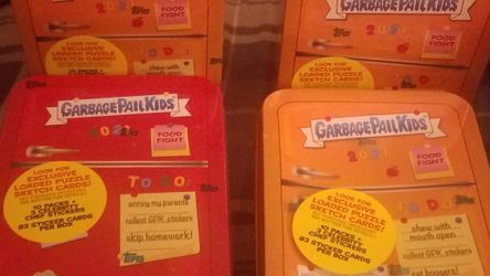 (4) Factory Sealed Unopened GPK Food Fight Tins for Sale in Everett,  WA