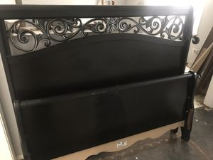 Queen bed frame and night stand for Sale in Independence, MO