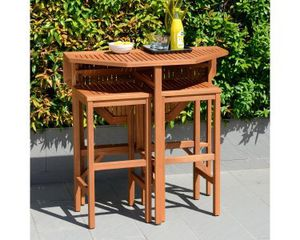 Trinidad Outdoor Dining Table with 2 barstools for Sale in Foxborough, MA