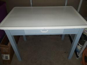Antique Metal porcelain top desk/table for Sale in Columbus, OH