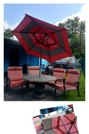Mosaic Stone Tile Table, Chairs & Umbrella Outdoor Furniture for Sale in Blue Bell, PA