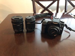Canon 70D + 3 lenses for Sale in San Diego, CA