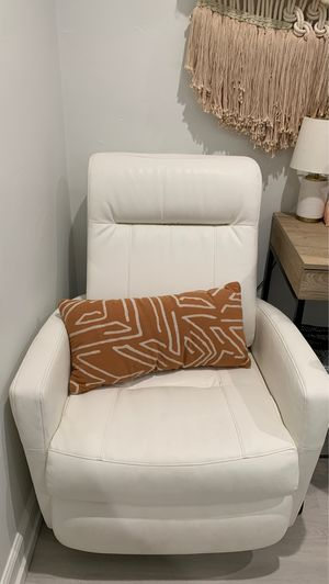 White leather swivel Recliner rocking chair for Sale in San Diego, CA